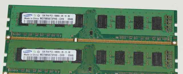 Samsung DDR3 1700+ (1333) 2х2Гб отличное состояние