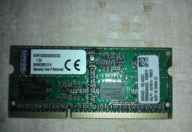 Модуль памяти Kingston sodimm DDR3 2GB