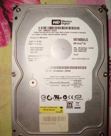 Жесткий диск Western Digital WD1600aajs 160GB