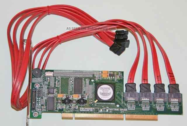 Promise FastTrak SX4300 4 SATA II raid 5 для pcix
