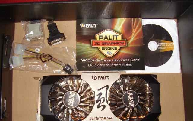 Продаю palit GeForce GTX 670 JetStream