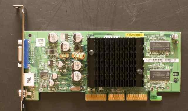 AGP видеокарта geforce FX 5200 128MB