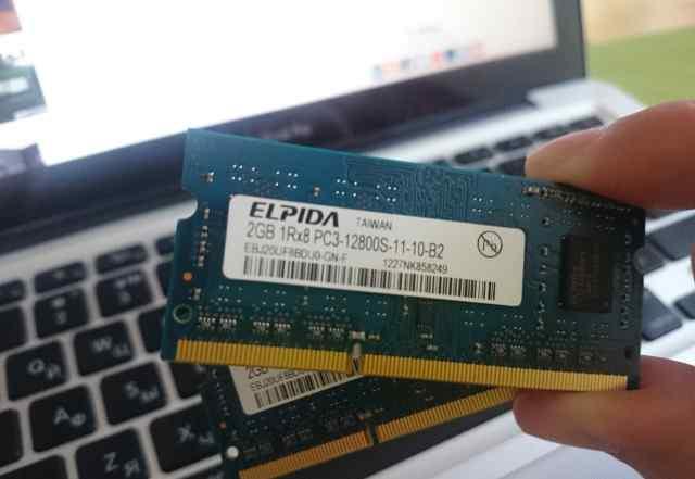 Elpida 4GB (2x2GB) 12800 DDR3 1600 MHz SO-dimm
