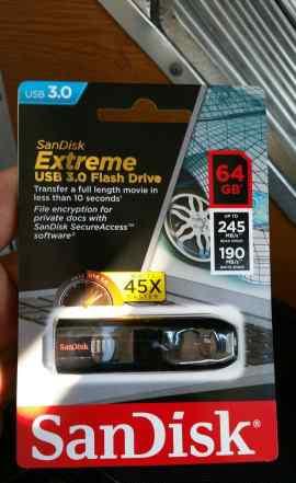 Sandisk Extreme 64gb 3.0 USB Flash