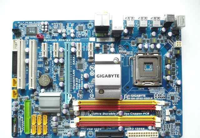 Материнская плата gigabyte GA-EP45-UD3LR LGA 775
