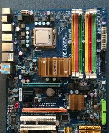 Материнская плата Ga-EP45C-DS3 + Intel Q9550 + 8Gb
