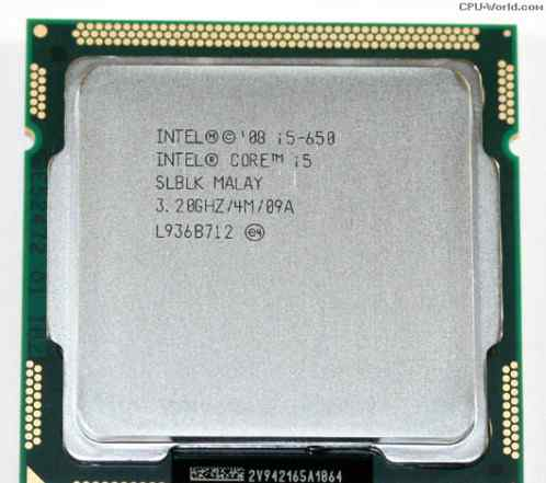 Intel core i5 650 s1156