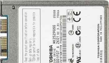 Toshiba MK2529GSG 250GB 1.8 дюйма