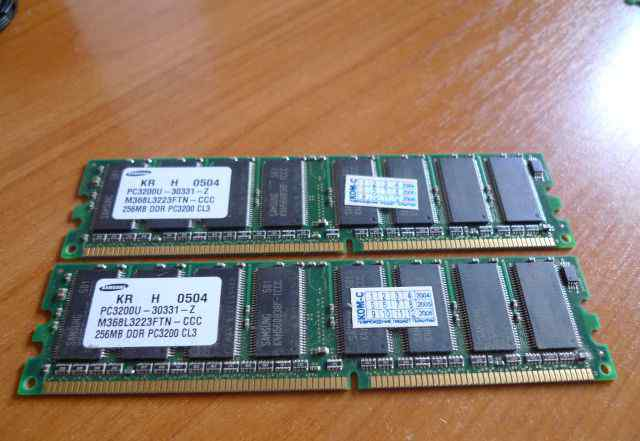 Память dimm DDR 256MB PC3200 CL3 Samsung