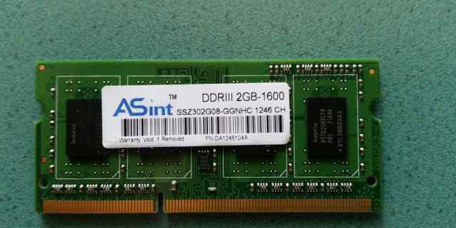 Sodimm 2GB DDR3 1600