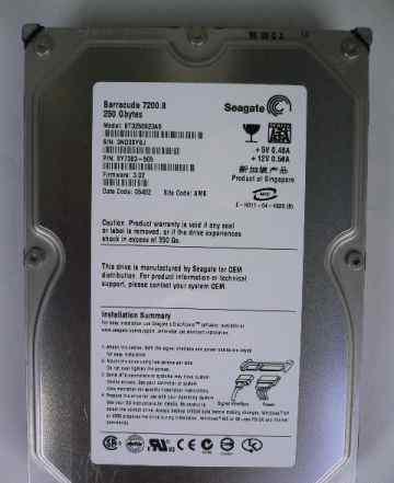 Seagate Barracuda 7200.8 250GB SATA (ST3250823AS)
