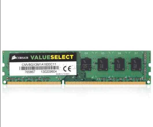Corsair, 8 Gb 1600 мгц, DDR3, Новая