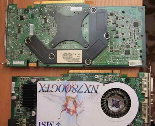 Видекарта MSI 7800 GTX 256 mb