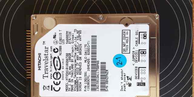 Жёсткий диск для ноутбука Hitachi 100 Гб