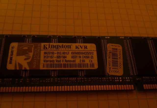 Kingston KVR400Х64С25/512