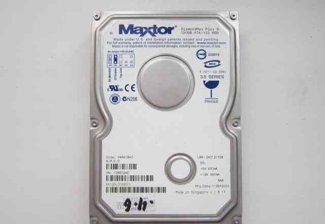 Жесткий диск Maxtor DiamondMax Plus 9, 120 GB