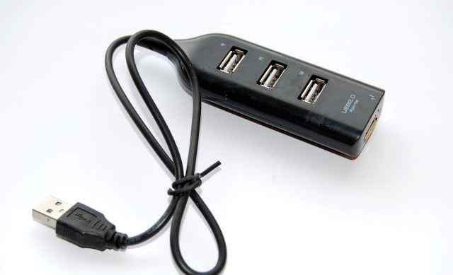 USB - разветвители с удлинительным шнуром (новые)