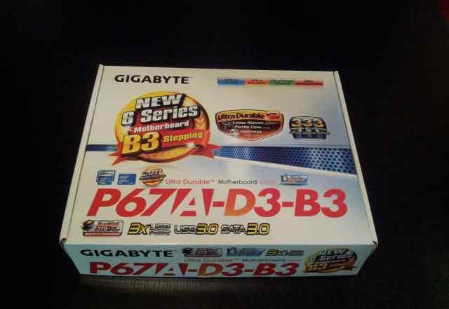 Материнская плата gigabyte GA-P67A-D3-B3 новая