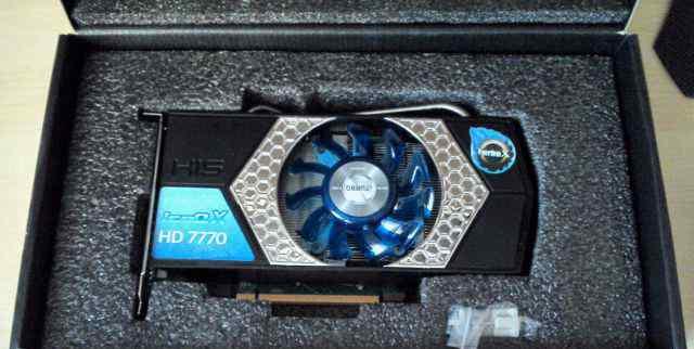 видеокарту AMD Radeon 7770 1GB DDR5, хор. с
