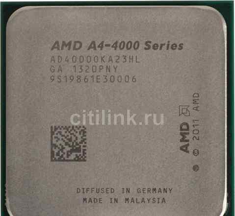 Процессор AMD A4 4000, SocketFM2, OEM