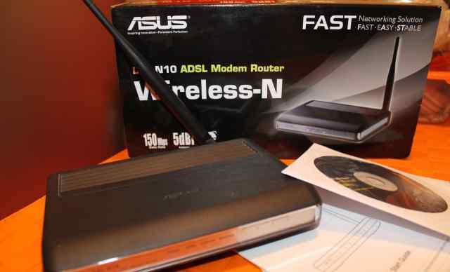 Модем adsl asus DSL-N10 + маршрутизатор + WiFi 802