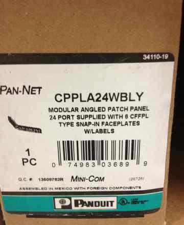 Panduit cppl24wbly Патч-панель 19