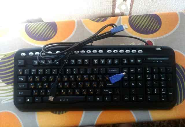 Клавиатура Oklick USB + хаб, Новая