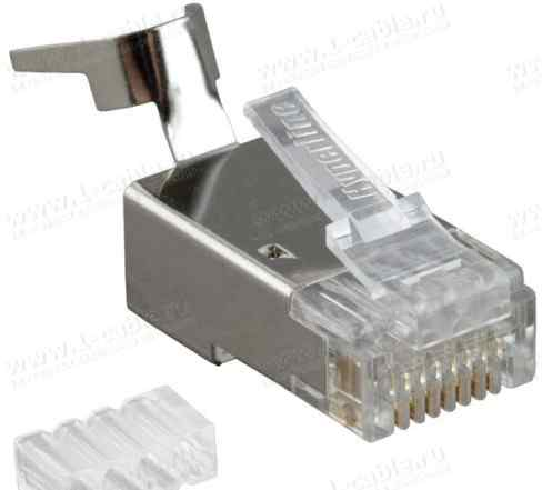 Разъем RJ45 Hyperline plug-8P8C-UV-C6-TW-SH-10