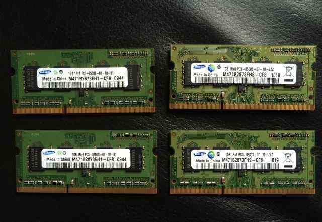 Память DDR3 Samsung 1GB