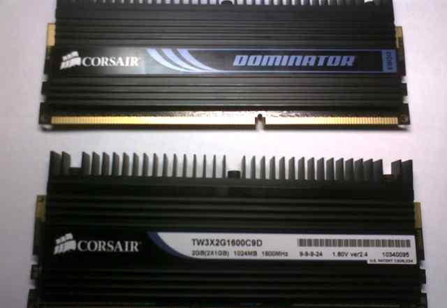 Corsair DDR3 1600 1GB с радиаторами. (рабочие)