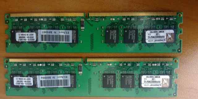 DDR2 800MHz Non-ECC CL5 dimm 1 GB, гарантия