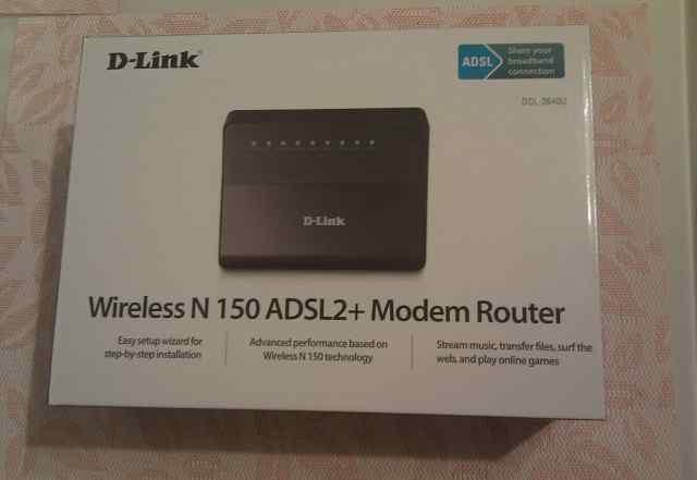 Adsl2+ Wireless-N роутер D-Link DSL-2640U
