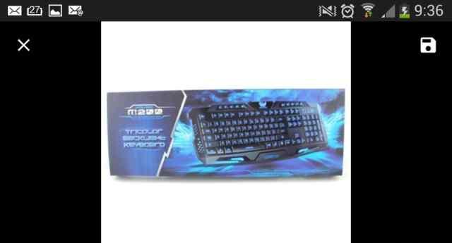 Клавиатура с 3х. Цветной подсветкой