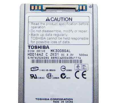 """1.8"""" 30GB 30 GB toshiba MK3008GAL"""