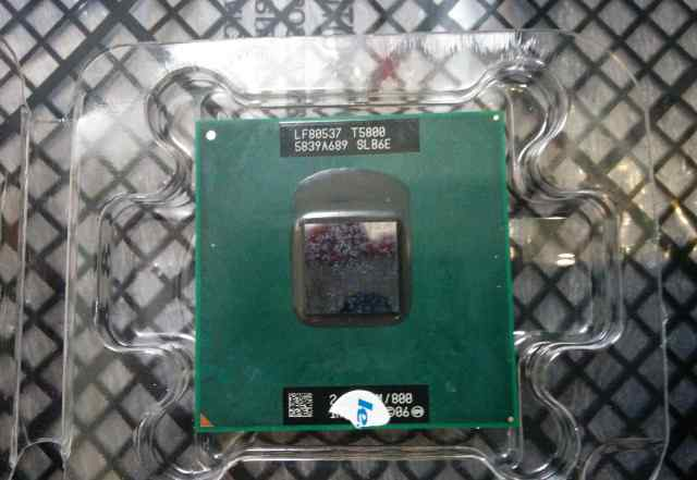 Intel Core 2 Duo T5800 2GHz для ноутбука Socket P