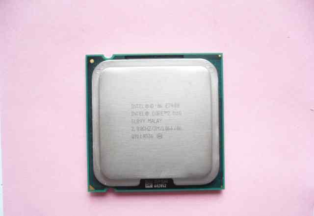 Процессор intel Core 2 Duo E7400, LGA 775 + кулер