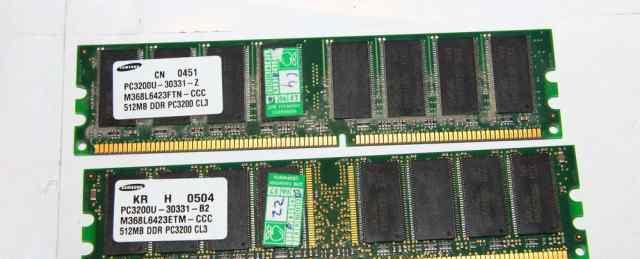 Samsung 512Mb DDR, PC-3200, 400мгц
