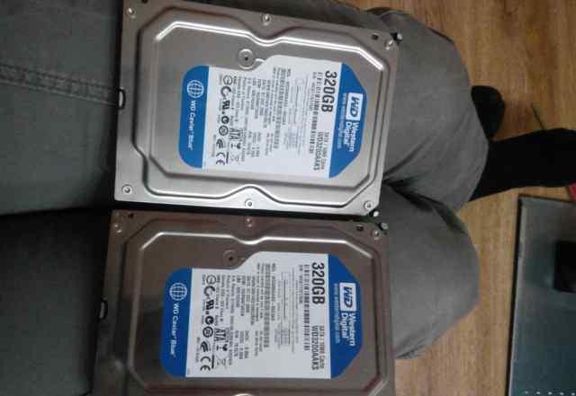 Два жестких диска по 320 Гб каждый