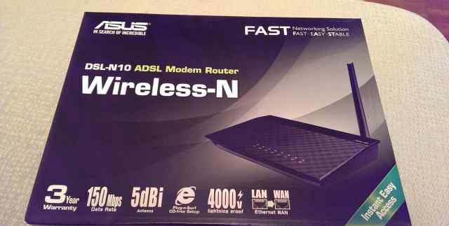 Новый wifi роутер asus DSL-N10