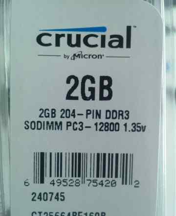 Оперативная память Crucial CT25664BF160B 2Gb