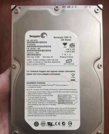 Seagate Barracuda 320GB ST3320620A, IDE, 3.5""