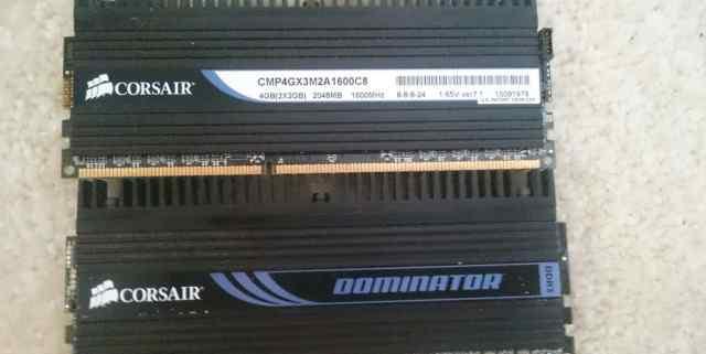 Corsair Dominator DDR3 1600MHZ 4GB (2+ 2) с радиат