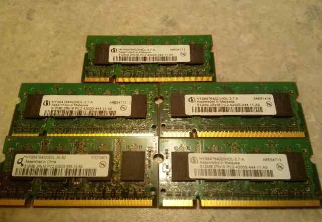 Модули памяти для ноутбука Hynix (Infineon) 512Mb