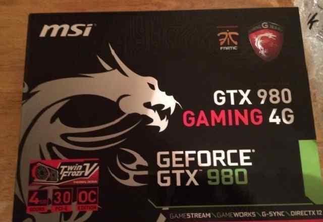 MSI Geforce GTX 980 новые карты