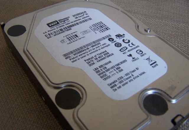 HD Western Digital WD3200aajb-56WGA0 320гб б/у