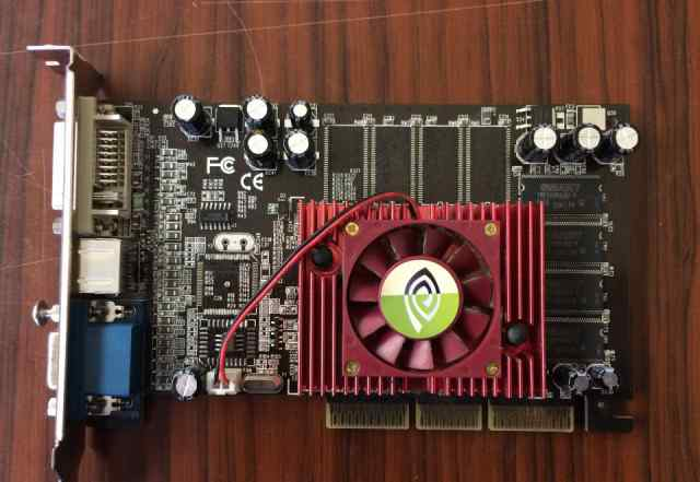 Видеокарта GF FX 5200 verf AGP 128Mb TV-OUT DVi
