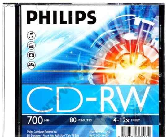 Диски CD-RW TDK, Philips, Verbatim