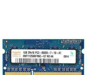SO-dimm DDR3 (PC8500) Hynix 1Gb для ноутбука