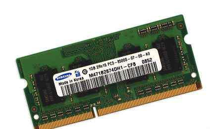 SO-dimm DDR3 (PC8500) Samsung 1Gb для ноутбука