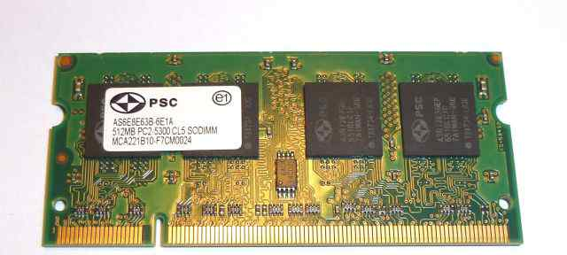 SO-dimm PC2 512Mb 5300 PSC